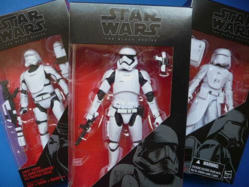 "Star Wars The Force Awakens 6/"" Figure Black Series Set//Lot Of 3 Stormtrooper"