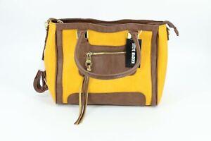 Steve Madden B Preston Tote Handbag Purse Yellow Brown