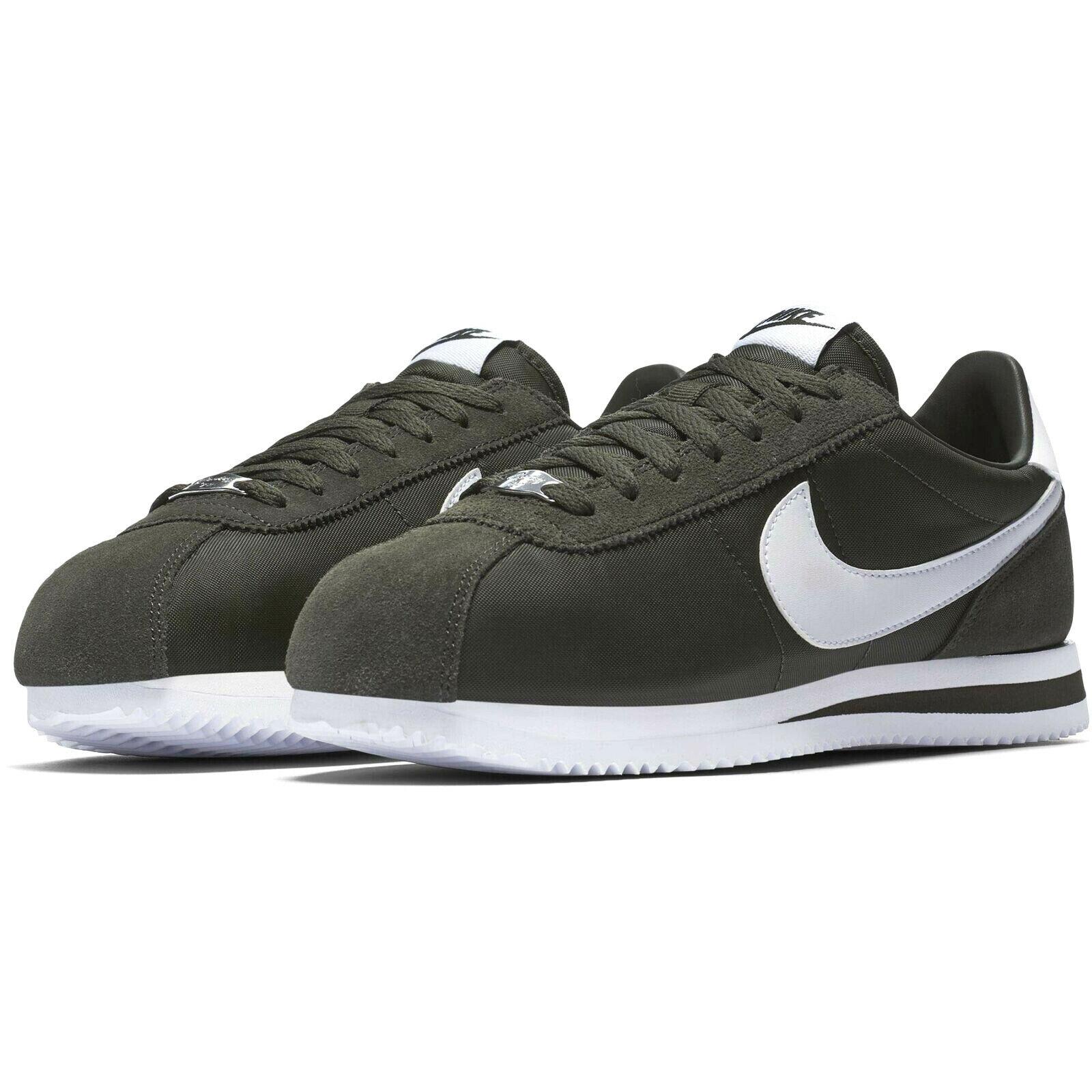 4a48afbf0e21 Nike Cortez Classic Basic Nylon SEQUOIA OLIVE OLIVE OLIVE DARK GREEN WHITE  819720-301 0a2ac8