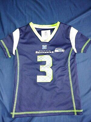 Girls Russell Wilson #3 NFL Team Seattle Seahawks Jersey Sz Xs   eBay