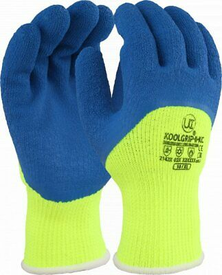 UCI ICETHERM-BK Thermal Insulated 3//4 Coated Cold Winter Freezer Work Gloves