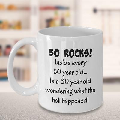 Happy 50 Year Old 1969 50th Birthday Gift Mug Gift Idea For Women Or Men Ebay