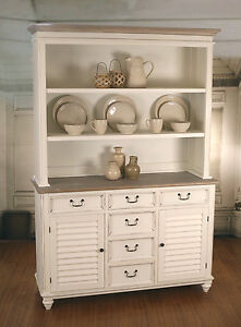 Kitchen Buffet And Hutch French Provincial Plantation Style Furniture Dresser Ebay