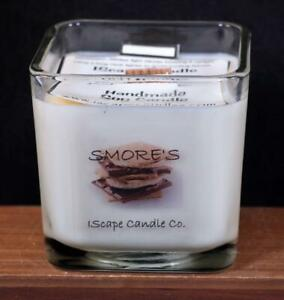 IScape Scented *Sea Of Love* 11 Oz Square Jar Wood Wick Soy Candle