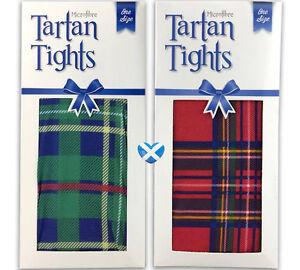 super populaire style classique de 2019 rechercher les plus récents Détails sur Tartan Femmes Collants rouge ou vert taille unique en  microfibre-Scottish Fancy Dress UK- afficher le titre d'origine