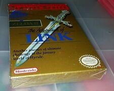 Zelda II 2 Adventure of Link Gold Nintendo NES CIB Mint 90% Sealed basically new