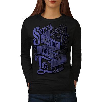 Adattabile Wellcoda Fuori Oblio Parodia Da Donna Manica Lunga T-shirt, Eseguire Dare Casual Design-mostra Il Titolo Originale Design Professionale