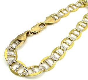 14-Grams-9-2mm-9-034-Mens-10k-Yellow-Gold-Anchor-Mariner-Curb-Diamond-Cut-Bracelet
