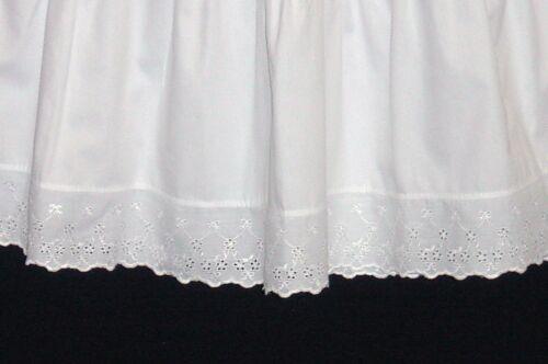 Vintage Style Crisp Cotton Edwardian petticoat for 30/'s-40/'s style Tea dresses