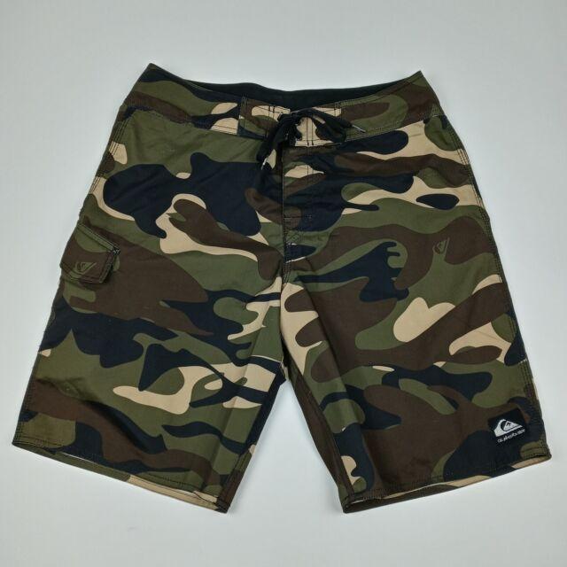 QUICKSILVER Camouflage Board Shorts Camo Unlined Men's Size 32
