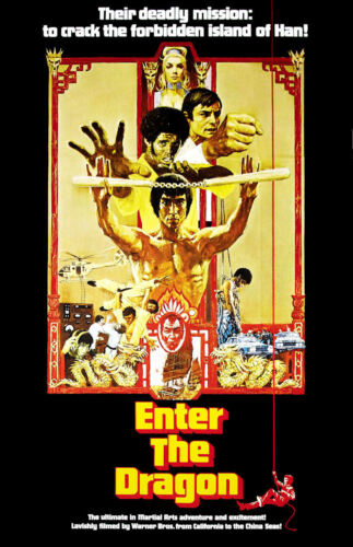 "Movie Collector/'s Poster Print 11/"" x 17/"" Enter the Dragon B2G1F"