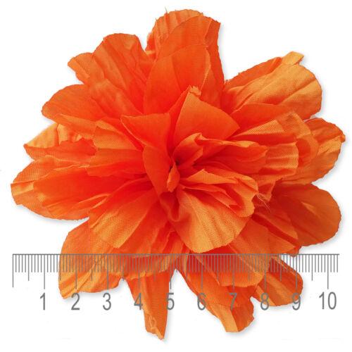 ORANGE PEACH CORAL Fabric Flowers CRAFT Glue//Sew On Embellishment Appliques DIY