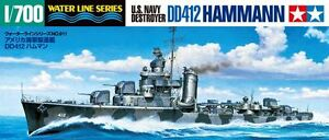 Tamiya-31911-1-700-Scale-Model-Kit-WWII-U-S-Navy-USS-Destroyer-DD412-Hammann