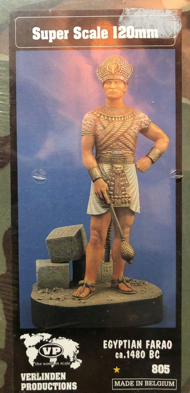 1 16 120MM RESIN FIGURE  VERLINDEN 805 EGYPTIAN FARAO 1480 B.C. nouveau.  bénéfice nul