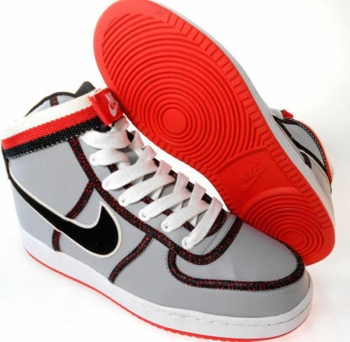 Men's Nike Vandal High Casual Shoes, 621187 003 Sizes 10.5-13 Grey/Blk/Crims/Wht
