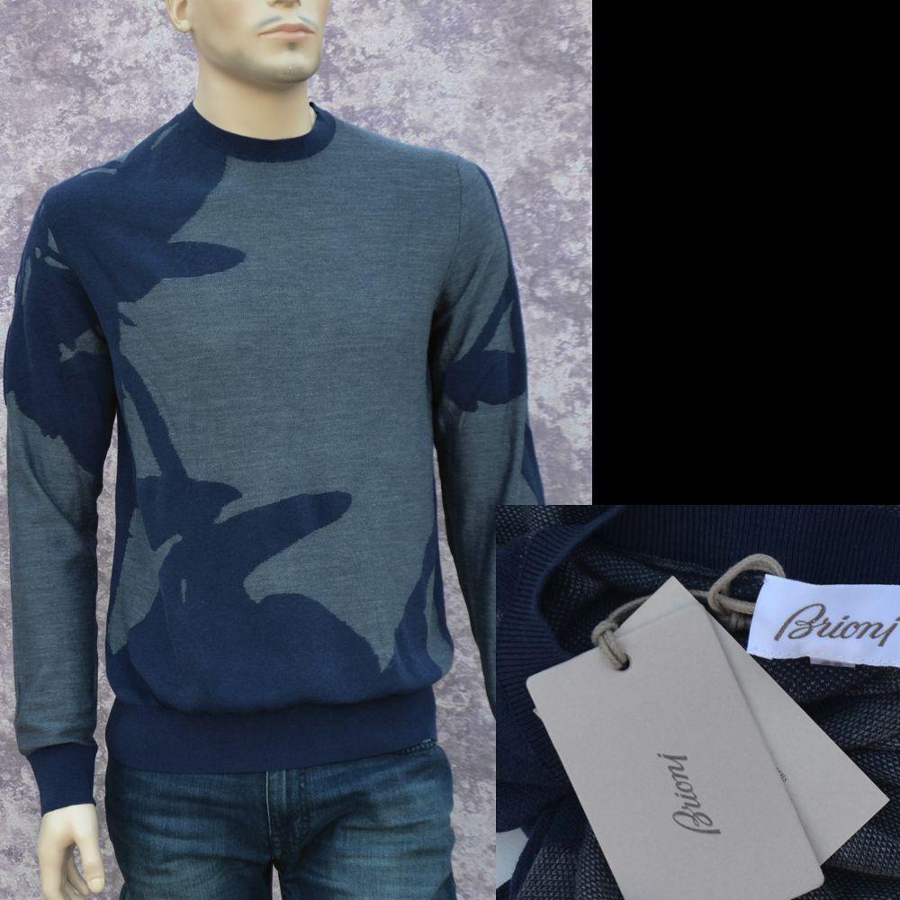 Brioni New sz 52 - 42 XL Authentic Designer  Herren Cotton Silk Top Sweater