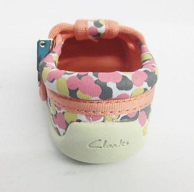 Kleinkinder Clarks braun Kuchen pink / Multi Leinenschuhe F PASSUNG