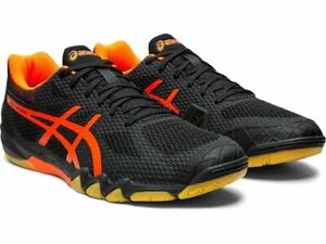 Asics-Gel-Blade-7-Mens-Court-Shoes-Black-Shocking-Orange-1071A029-001