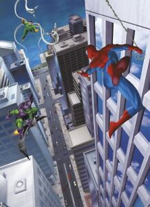 Spider-Man-Papier-Peint-pour-Enfants-Chambre-Photo-Mural-Marvel-Affiche-Type
