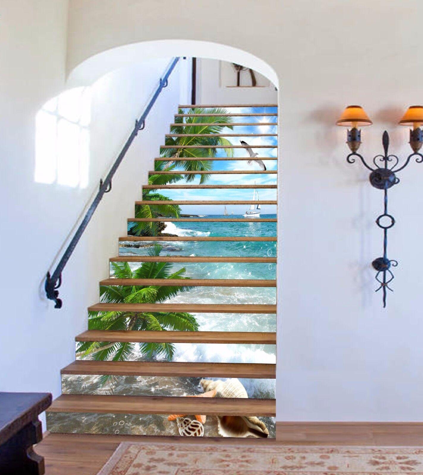 3D Sea Bird  509 Stair Risers Decoration Photo Mural Vinyl Decal Wallpaper A