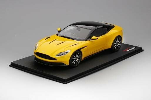Resin Car Model Top Speed Aston Martin DB11 1 18 (Sunburst Yellow) + GIFT