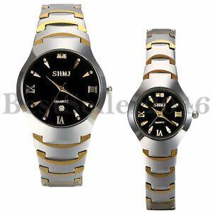 Fashion-Rhinestone-Calendar-Tungsten-Steel-Quartz-Analog-Couple-Wrist-Watches