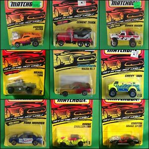 Matchbox 1992 1993 1994 1995 1996 Pick Your Model From The LOT, All In Blisters