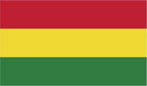 Central America BOLIVIA FLAG VINYL STICKER International 10cm x 6cm
