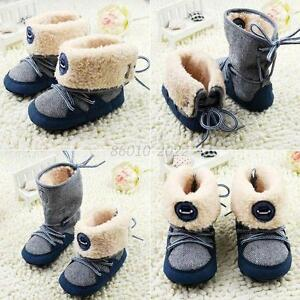 Winter Kids Baby Boy Warm High Snow Boots Soft Bottom Shoes Ankle Sneaker Shoes