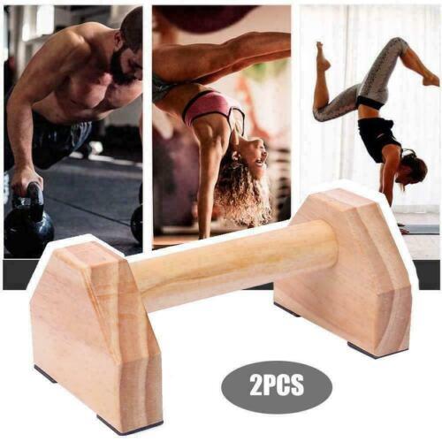 Holz Parallettes Minibarren Handstand Barren Liegestützgriffe Push-Up bars DHL