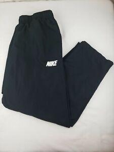 Nike-Mens-XL-Black-Athletic-Track-Pants-Zip-Ankle-Elastic-Waist-Drawstring-Run