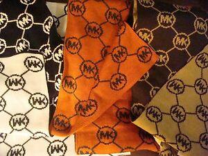 Michael-Kors-Circa-Argyle-Logo-Knit-Scarf-Pick-Color-Women-039-s-Wrap-MSRP-58-NEW