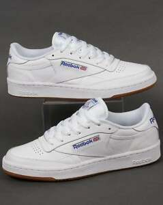 ... Reebok-Club-C-85-Baskets-en-Blanc-Royal- 066e72dc5db