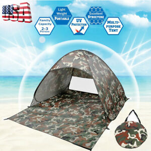 Pop-Up-Beach-Tent-Sun-Shade-Shelter-Outdoor-Camping-Fishing-Canopy-2-3-People-US