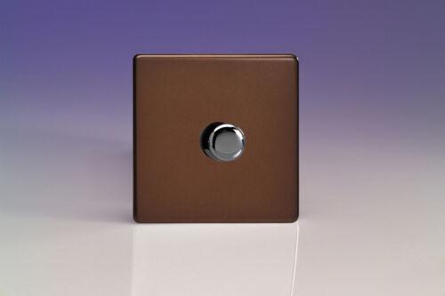 Varilight 1-Gang 1-Way Rotary Dimmer Interrupteur de lumière 1 x 60-400 W Moka HDM1S