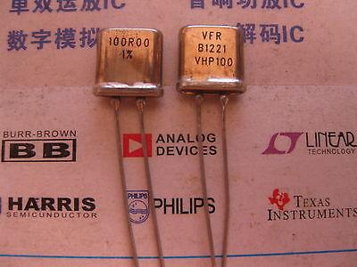 1X 319281 100R00 0.01/% 0.3W  RADIAL Metal Foil seal Resistors 100Ω OHM