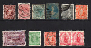New-Zealand-11-Stamps-c1864-02-Mounted-Mint-and-Used-some-faults-6133