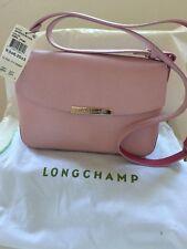Authentic Longchamp Le Foul City Cross-body Pink Leather Bag