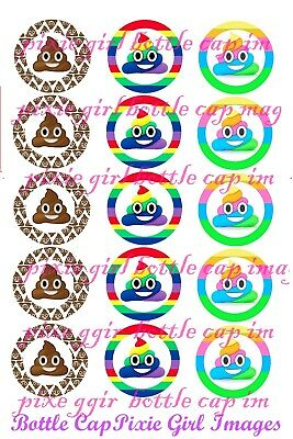 Sponge Bob Emoji Emoticon Faces original Different 15 Precut bottle cap images