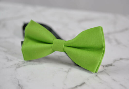 Boy Kids Baby 100/% Cotton Lime Green MATTE Bow Tie Bowtie Wedding 1-6 Years Old
