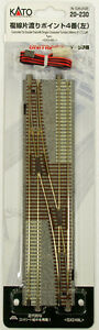 Kato-20-230-UNITRACK-4-Single-Crossover-Turnout-248mm-9-3-4-034-Left-N-scale