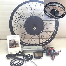 "LCD + 72V3000W 26"" *4.0 FAT RIM Electric Bicycle E Bike Hub Motor Conversion kit"