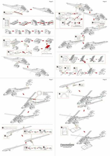 Metal Earth AH-64 Apache Military Army Helicopter Aircraft 3D Model Building Kit