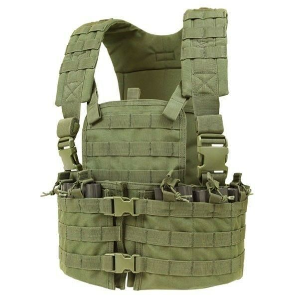 CONDOR OD  Green CS Modular MOLLE PALS Chest Rig w  Magazine & Hydration Pouch  up to 60% off