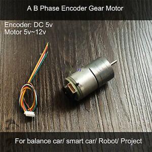 Gear-Motor-DC-5v-Encoder-260-line-P-R-Geschwindigkei-for-Balance-Smart-Car-Robot