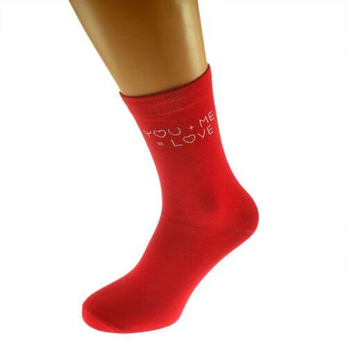 Me = Love Valentines Romantic Red Mens Socks UK size 5-12 You X6N301