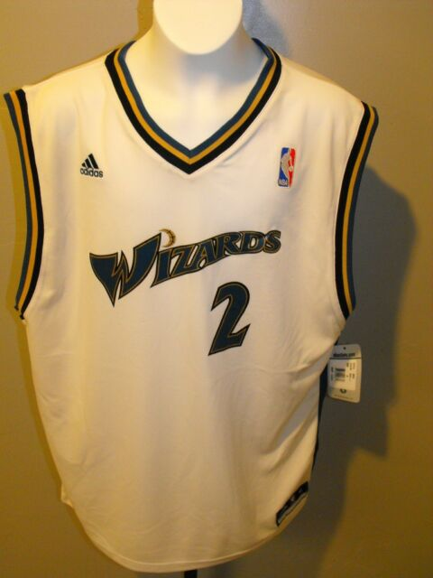 f981c080d Adidas John Wall Washington Wizards Youth White Replica Home Jersey ...