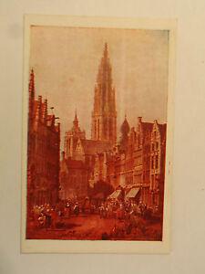 TARJETA-POSTAL-Catedral-Amberes-en-1833