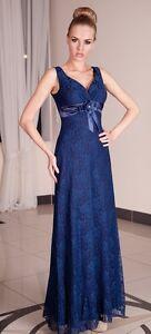 Largo Fiesta Noche Formal Mujer Cóctel Encaje Dama Honor Vestido Maxi UK 8-22
