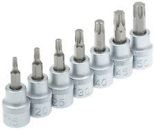Torx Steckschlüssel Set 7tlg Nüsse Steckschlüsselsatz Innentorx Werkzeug T15-T50